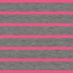 NEON FAT STRIPES Pink/Grau meliert