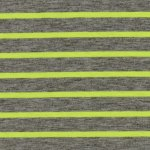 NEON FAT STRIPES Gelb/Grau meliert