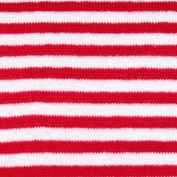 50 cm PAMUK Ringelbündchen Rot / Weiß
