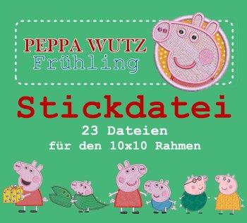 """Stickdatei Kleines Set """"Peppa Wutz Frühling"""""""