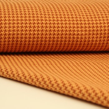 "Bio-Jacquard TWEED KNIT"" Braunorange by Hamburger Liebe"