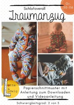Papierschnittmuster TRAUMANZUG BABY by Lotte & Ludwig
