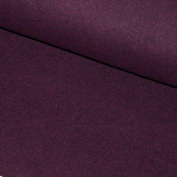 BIO-Baumwollfleece Bordeaux Melange