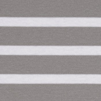 BIO Interlock XL Stripes Weiß auf Hellgrau