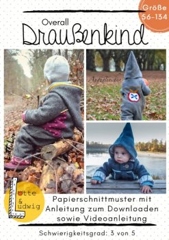 Papierschnittmuster DRAUSSENKIND by Lotte & Ludwig