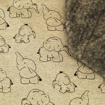 """ALPEN FLEECE """"Elefanten"""" Grau"""
