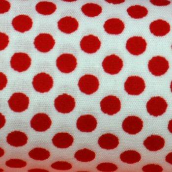 Dotties Rot auf Weiß