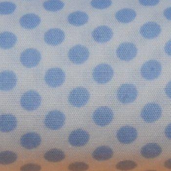 Dotties Hellblau auf Weiß