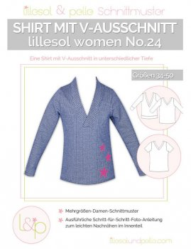 Lillesol No.24 Women Shirt m. V-Ausschnitt