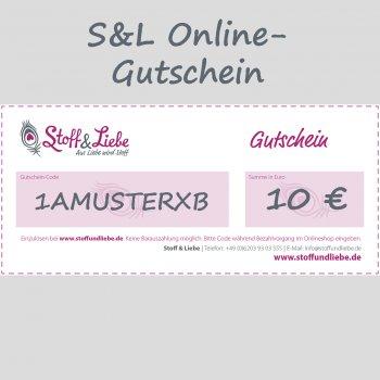Online Shop-Gutschein 10 €