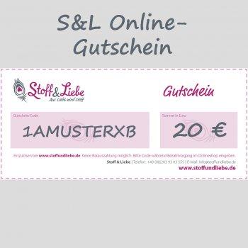 Online Shop-Gutschein 20 €
