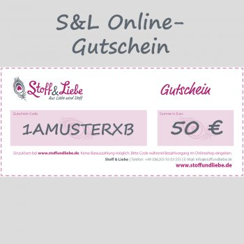 Online Shop-Gutschein 50 €