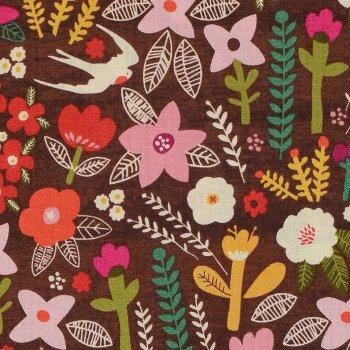 Petit Fleurs Braun