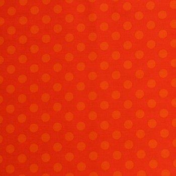 Punkte Groß Orange auf Rot
