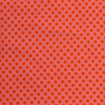 Punkte Klein Rot auf Pink