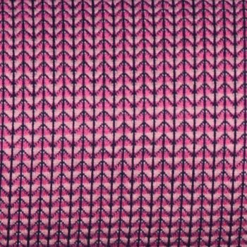 "Bio-Jacquard ""Mini Stripes Knit Knit"" ROSA/PINK"