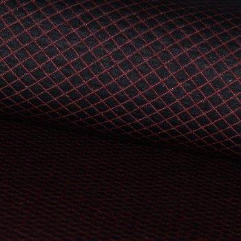 Baumwoll Stepper Rot/Schwarz