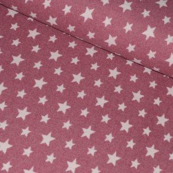 Bio-Baumwollfleece STARS Altrosa