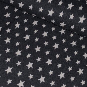 Bio-Baumwollfleece STARS Anthrazit