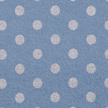 "Vintage- Sweat ""Silver-Dots"" Jeansblau"