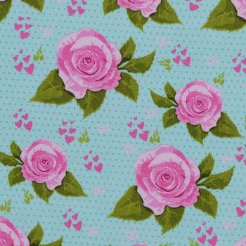 "Kuschel-Sweat ""TEA ROSES"" Mint"