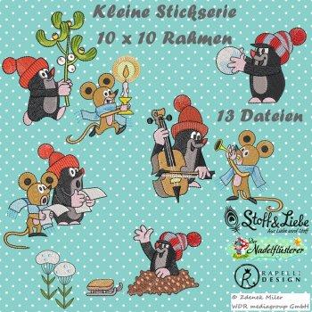 """Stickdatei Kleines Set """"Der kleine Maulwurf - Wundervolle Winterzeit"""""""