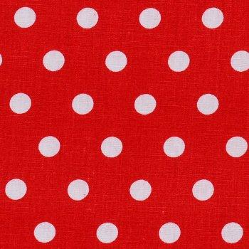 Punkte Mittel Weiß auf Rot