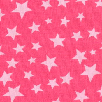 Stars no Stripes COTTON Rosa auf Pink