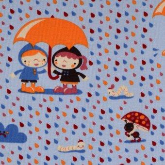 Bio Jersey Kinder Regenschirm Regentropfen niedlich