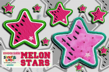 Stickdatei Melon Stars