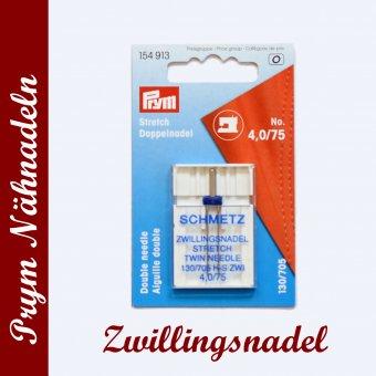Nähmaschinen-Nadeln Zwillingsnadel Jersey Größe 4,0/75