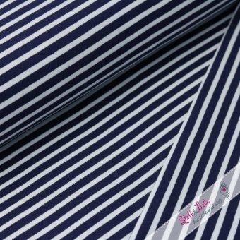 Ringel Jersey schwarzblau-Weiß