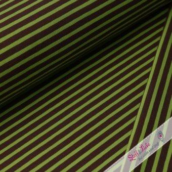 Ringel Jersey Braun-Apfelgrün