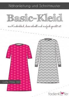 Papierschnitt Basic-Kleid Kinder