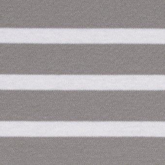 BIO Interlock XL Stripes Weiß auf Hellgrau