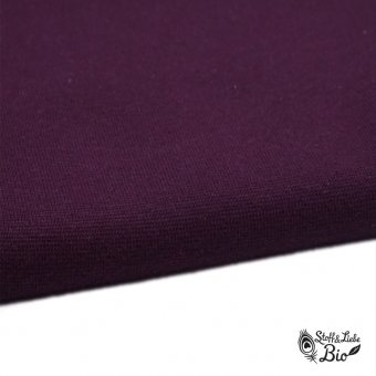50 cm PAMUK Bündchen Bordeaux - Bio
