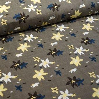 """Baumwoll Leine """"Flower"""" Taupe"""