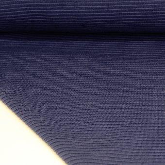 Jersey Ripp-Strickstoff FINJA Marineblau