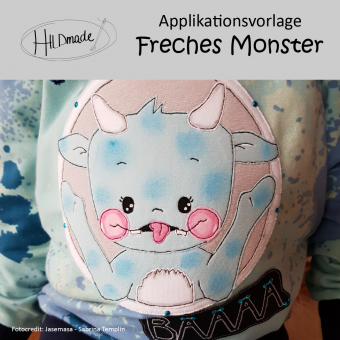 "Applikationsvorlage ""Freches Monster"""