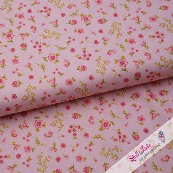 "Baumwoll Webware ""Mille Fleurs"" Rosé"