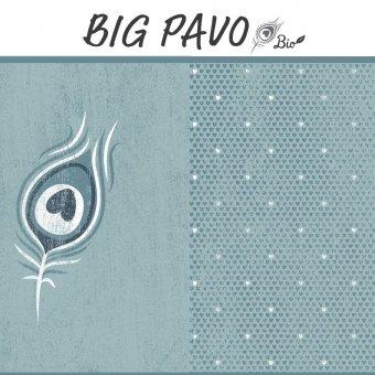 Sonderpreis! Bio Jersey BIG PAVO Panel - AQUA