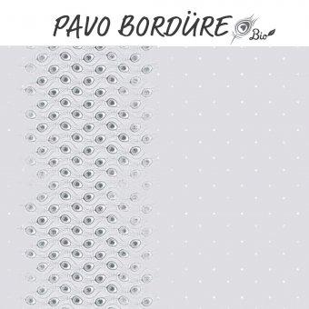 Bio Jersey Pavo Bordüre - GRAU