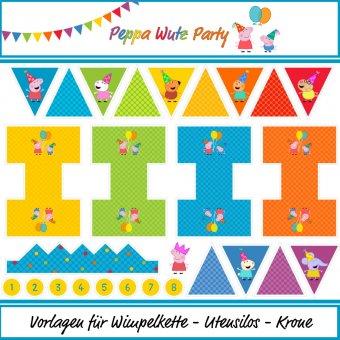 Peppa Wutz - Party - Canvas