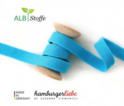 Bio-Flachkordel Türkis von Hamburger Liebe by Albstoffe