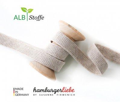 Bio-Flachkordel Beige von Hamburger Liebe by Albstoffe