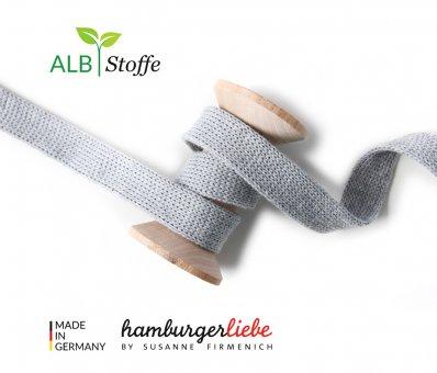 Bio-Flachkordel Grau von Hamburger Liebe by Albstoffe