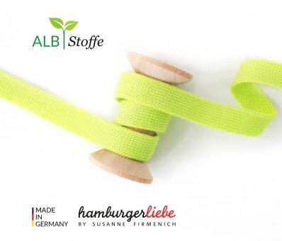 Bio-Flachkordel Lime von Hamburger Liebe by Albstoffe