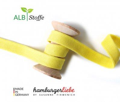 Bio-Flachkordel Gelb von Hamburger Liebe by Albstoffe