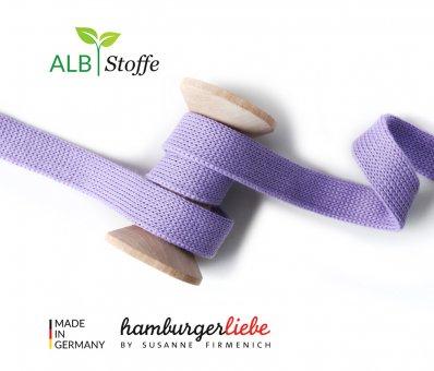 Bio-Flachkordel Flieder von Hamburger Liebe by Albstoffe