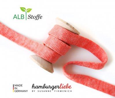 Bio-Flachkordel Lachs meliert von Hamburger Liebe by Albstoffe